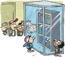 Dificuldades no acesso à biblioteca (Foto: Reprodução)