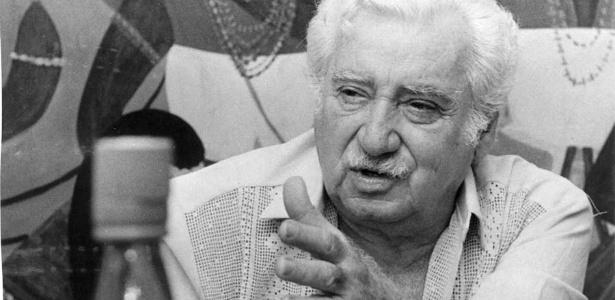 O escritor Jorge Amado no Rio de Janeiro, em 1984 (Foto: Lewy Moraes/Folhapress)