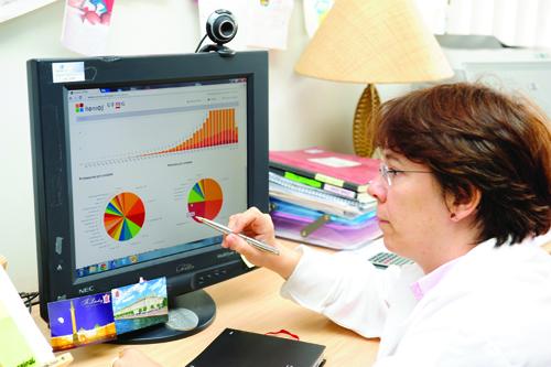 Maria de Fátima: ferramenta permitiu descobrir outras pessoas que pesquisam o cálcio (Foto: Reprodução)