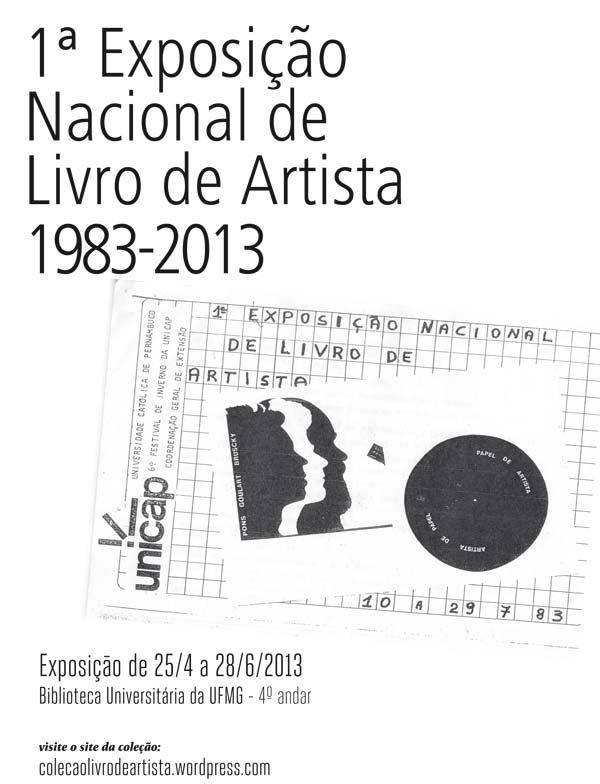 1º Exposição Nacional de Livro de Artista 1983-2013