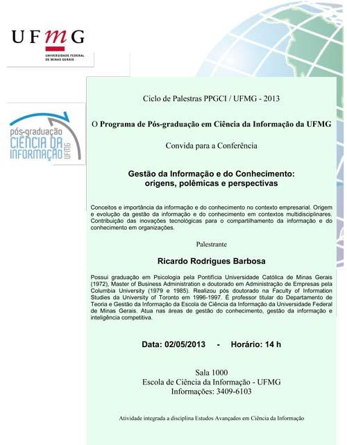 Conferência Gestão da Informação e do Conhecimento