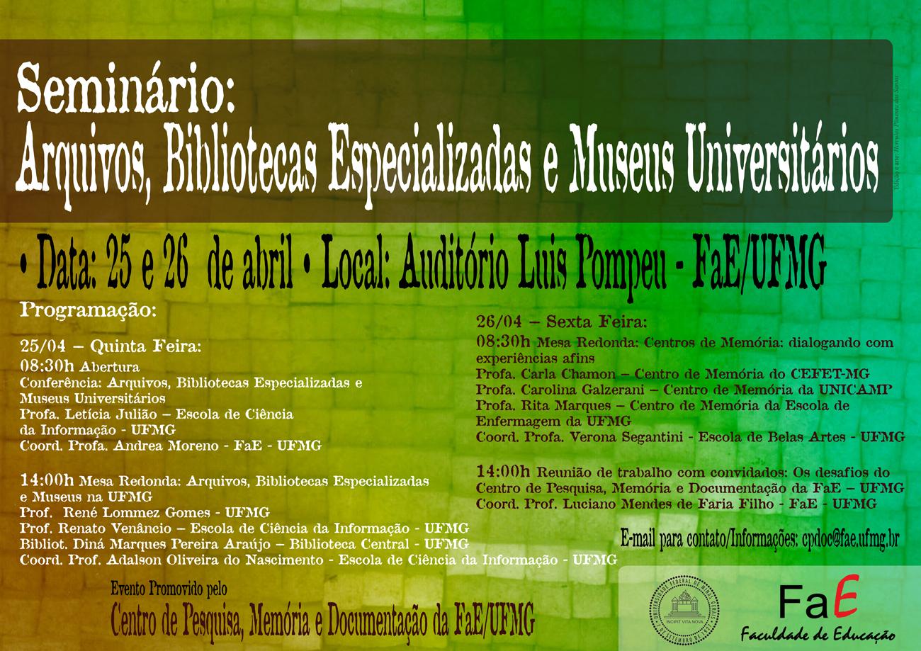 Seminário CPDOC - FaE-UFMG