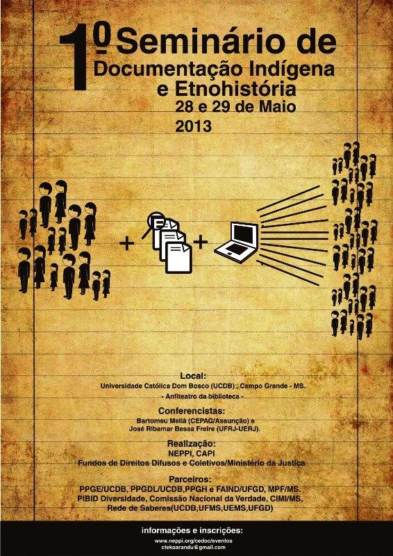 1º Seminário de Documentação Indígena e Etnohistória