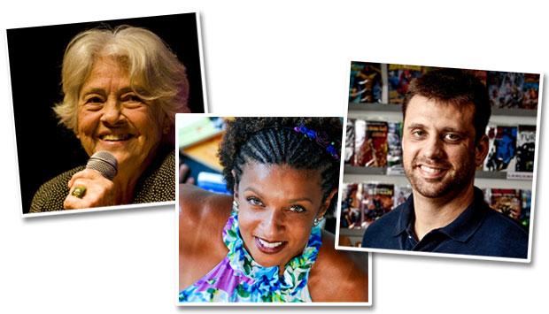 Adélia Prado, Elisa Lucinda, Eduardo Spohr (Foto: Reprodução)