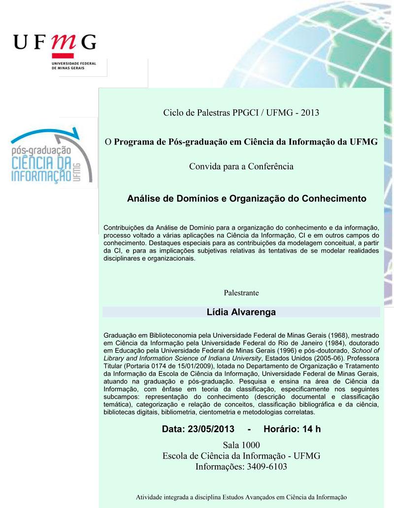 Conferência Análise de domínios e organização do conhecimento