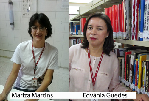 Mariza Martins e Edvânia Guedes - Bibliotecárias do SENAI-MG