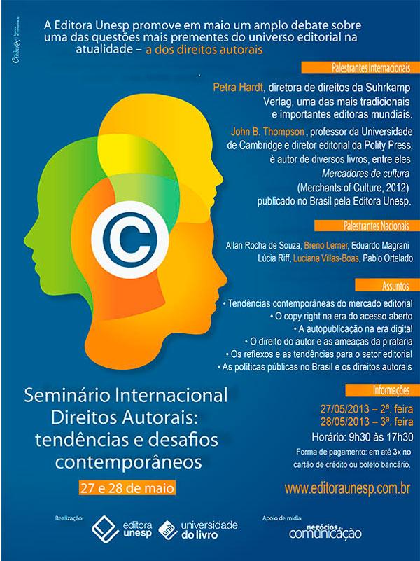 Seminário Internacional Direitos Autorais Tendências e Desafios Contemporâneos
