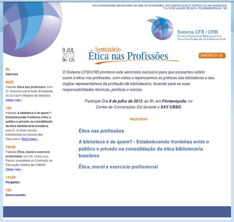 Seminário Ética nas Profissões