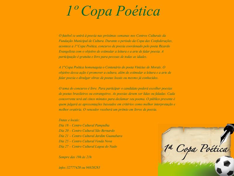 1º Copa Poética