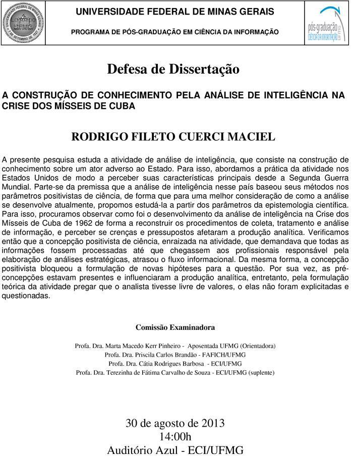 A construção de conhecimento pela análise de inteligência na crise dos mísseis de Cuba