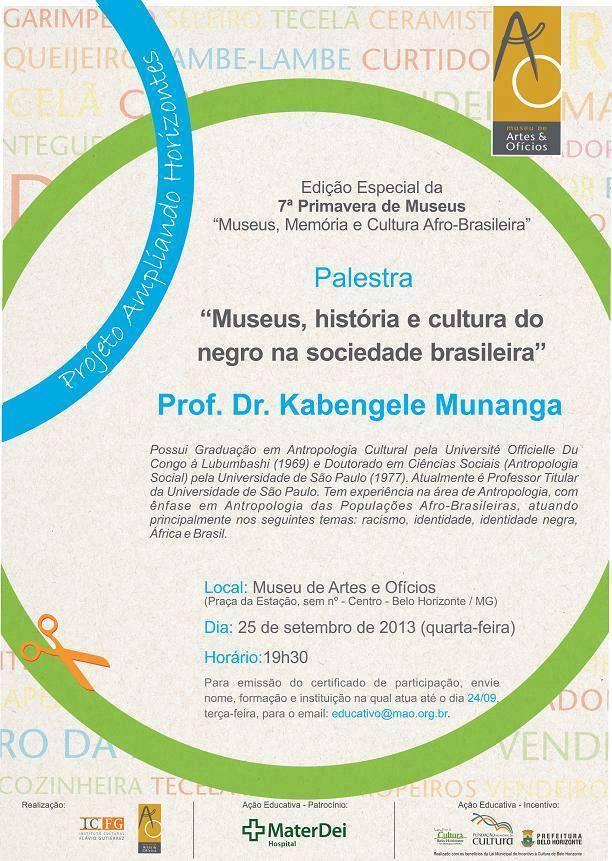Palestra Museus, história e cultura do negro na sociedade brasileira
