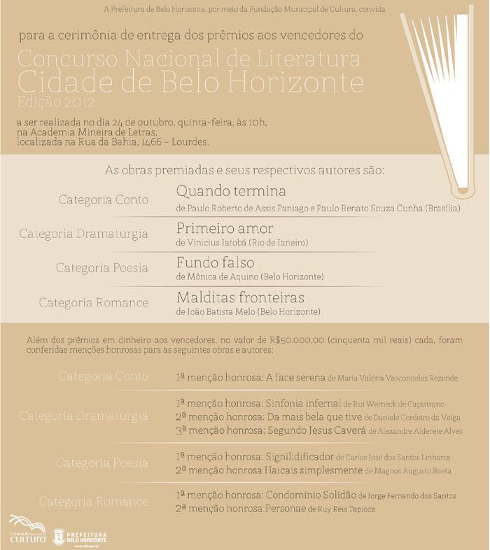 Concurso Nacional de Literatura Cidade de Belo Horizonte