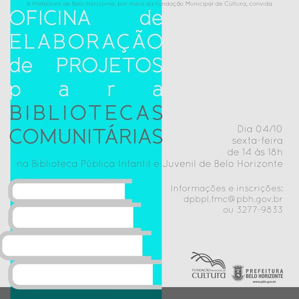 Elaboração de projetos para bibliotecas comunitárias