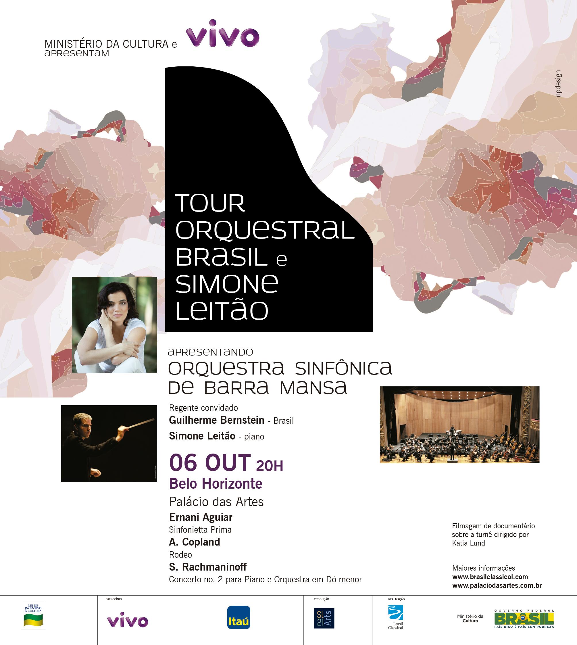 Tour Orquestral Brasil e Simone Leitão