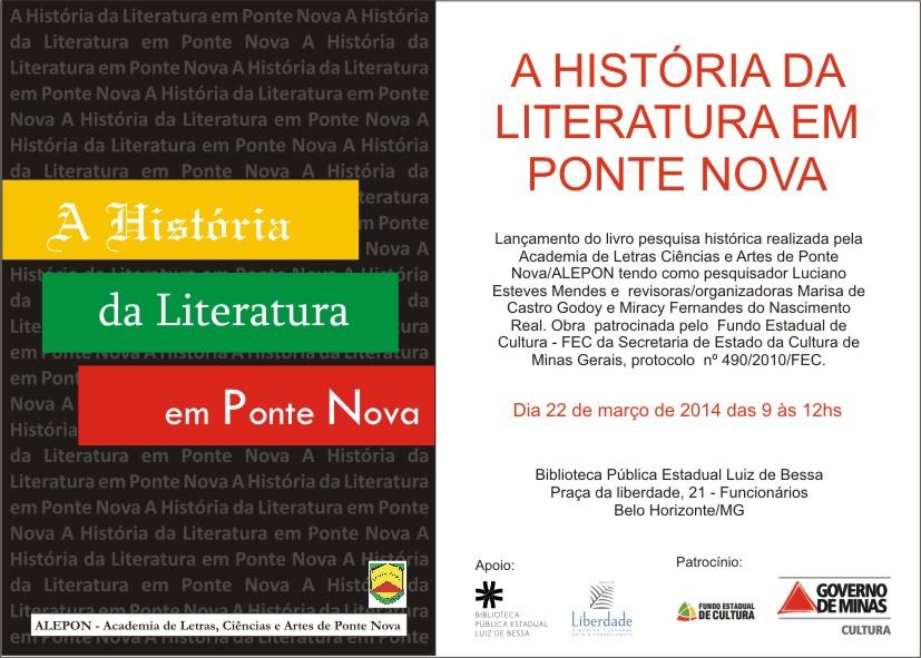 A História da Literatura em Ponte Nova
