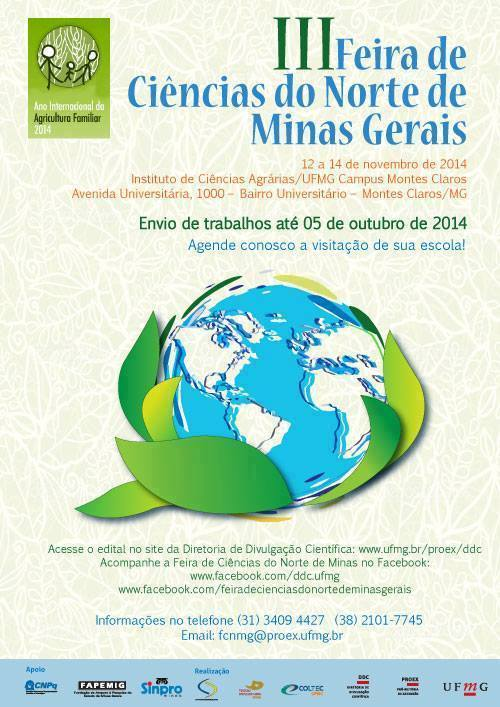 Feira de Ciências do Norte de Minas Gerais UFMG