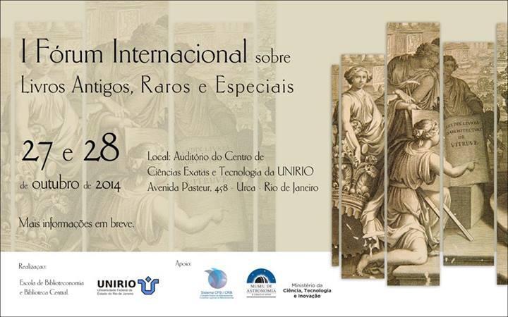 I Fórum Internacional sobre Livros Antigos, Raros e Especiais
