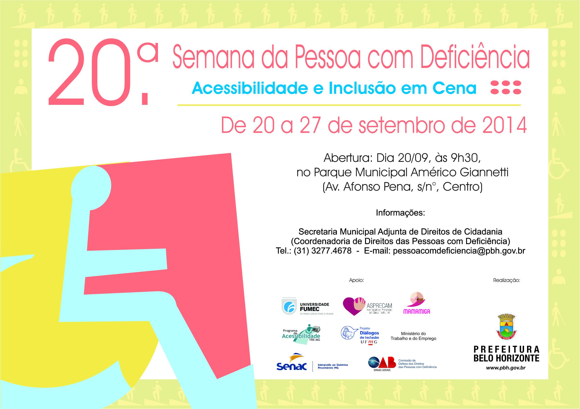20ª Semana da Pessoa com Deficiência