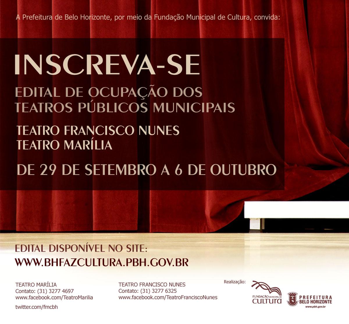 Edital de Ocupação dos Teatros Municipais - Francisco Nunes e Marília