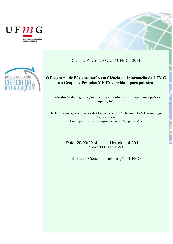 Introdução da organização do conhecimento na Embrapa