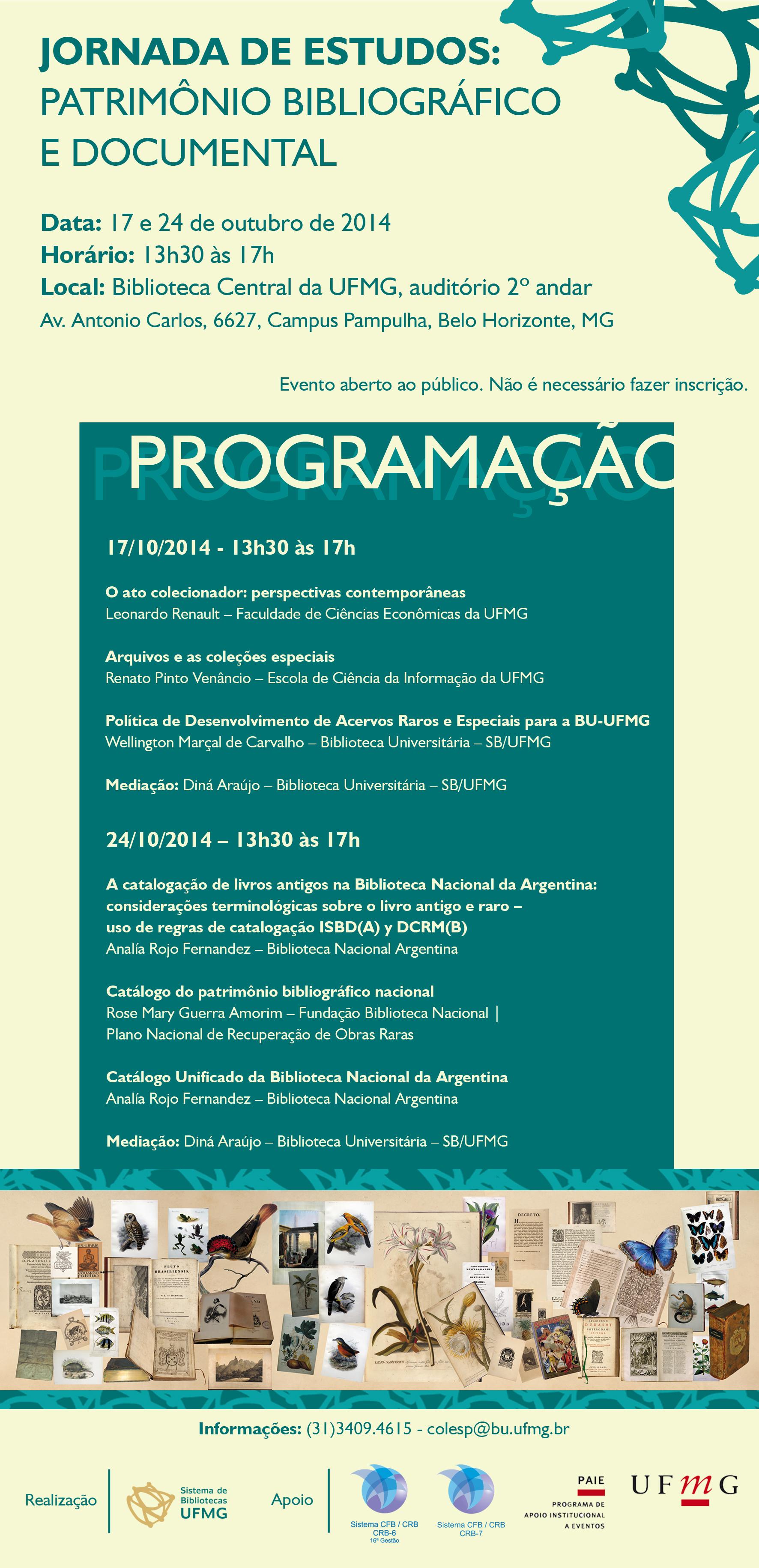 Jornada de Estudos patrimônio bibliográfico e documental