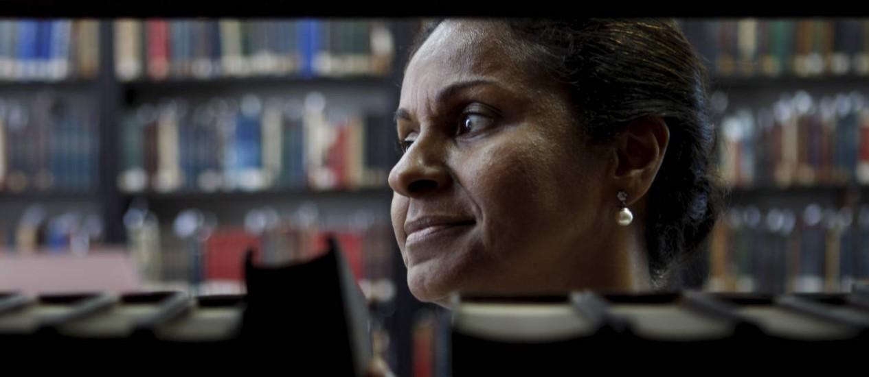 Ana Virgínia, cuida dos livros raros da Biblioteca Nacional (Gustavo Stephan)