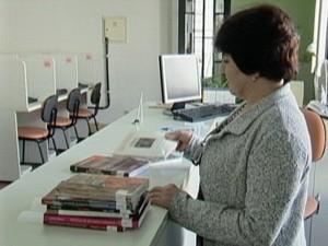 Biblioteca Municipal Viriato Corrêa em Araxá (Foto: Reprodução/TV Integração)