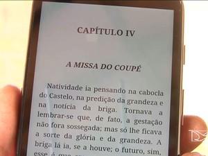 São oferecidos 150 leitores digitais nos campi (Foto: Reprodução/TV Mirante)