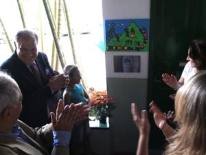 A inauguração foi nesta sexta com a presença do prefeito Rubens Bomtempo e da diretora executiva do instituto, Cristina Oldemburg (Foto: Divulgação/ Ascom PMP)