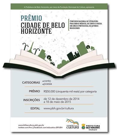 Concurso Nacional de Literatura Prêmio Cidade de Belo Horizonte 2014