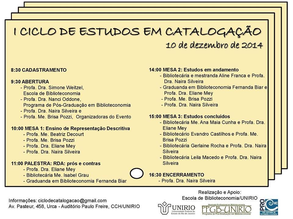 I Ciclo de Estudos em Catalogação