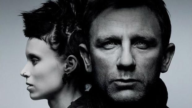 Daniel Craig e Rooney Mara no cartaz de 'Millennium: Os Homens que Não Amavam as Mulheres' (2011), filme derivado do primeiro livro da série de Stieg Larsson (Foto: Reprodução)