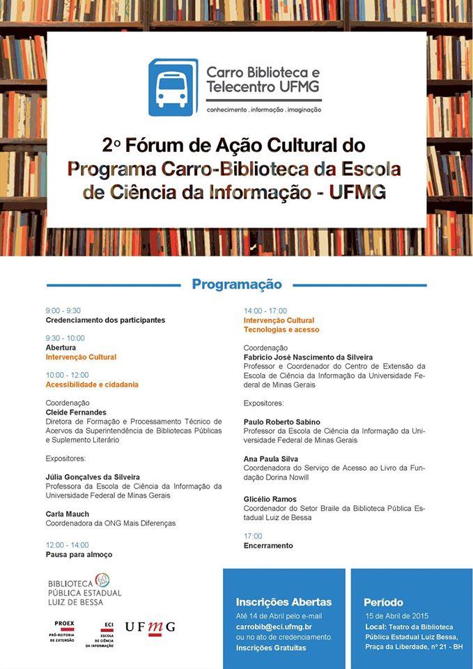 2° Fórum de Ação Cultural do Programa Carro-Biblioteca
