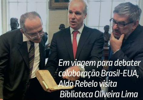 Aldo ressaltou a importância da Biblioteca Oliveira Lima para a produção de pesquisas e as relações existentes entre o Brasil e os Estados Unidos (Foto: MCTI)