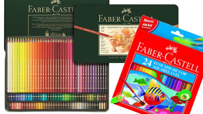 Caixas com 120 e 24 cores da Faber-Castell: empresa teve de aumentar produção para atender clientes (Foto: Divulgação/Faber-Castell)