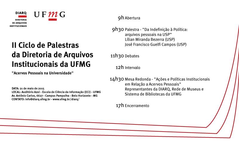 II Ciclo de Palestras Diretoria de Arquivos Institucionais UFMG