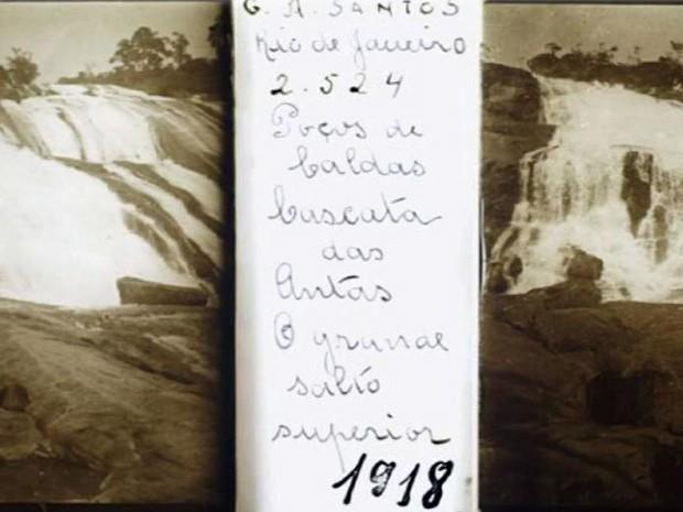 Foto da Cascata das Antas, em Poços de Caldas (Foto: Portal Brasiliana Fotográfica / Reprodução EPTV)