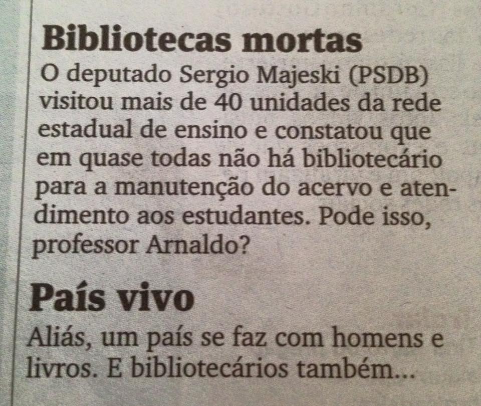 Coluna de Victor Hugo no jornal Gazeta