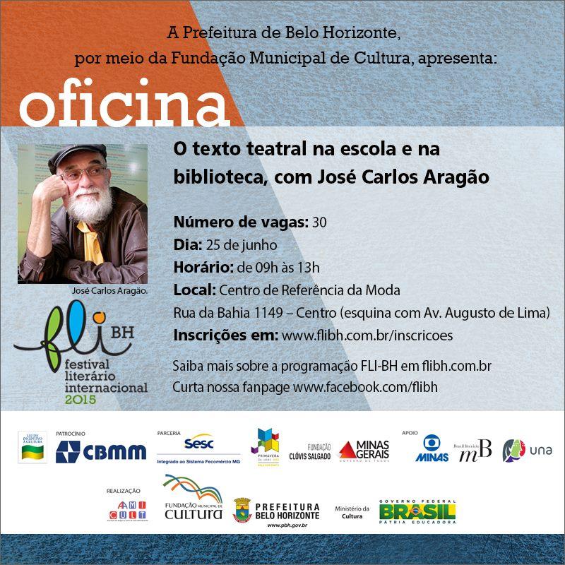 Oficina O texto teatral na escola e na biblioteca com José Carlos Aragão