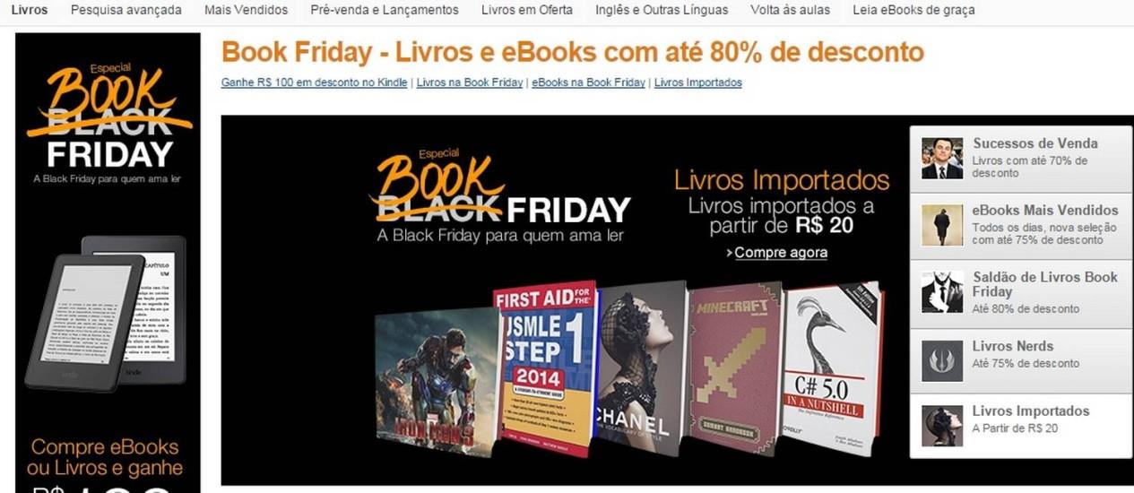 Promoção pretende ser uma Black Friday especial para leitores (Foto: Reprodução)