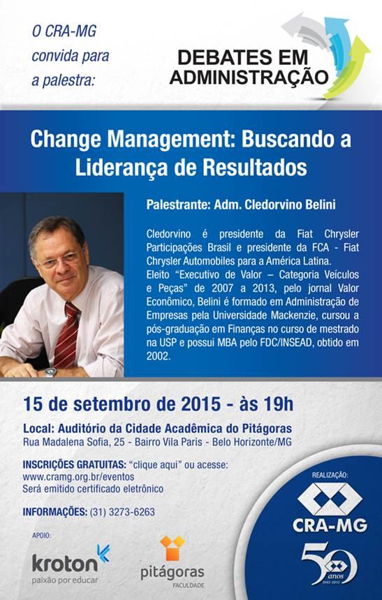 Change Management Buscando a Liderança de Resultados