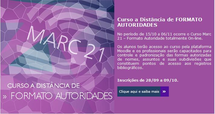 Curso a distância MARC 21 Formato Autoridades