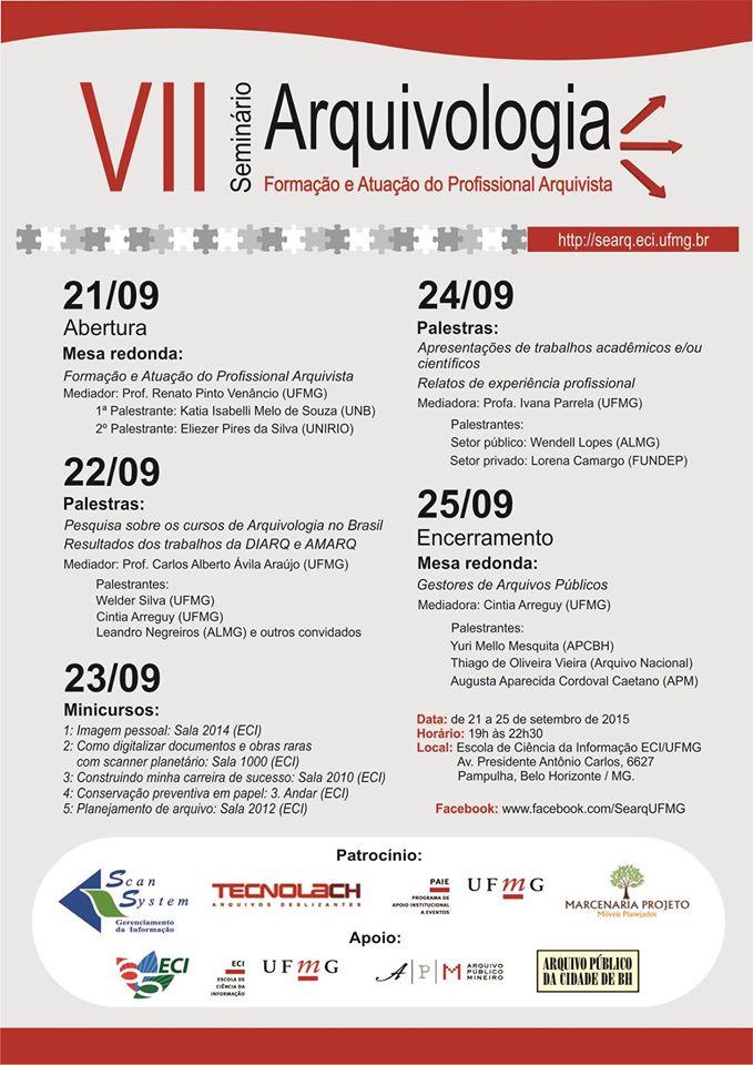 VII Seminário Arquivologia UFMG