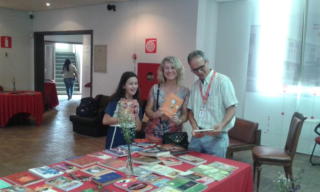 O diretor da escola também prestigiou o evento junto com Maria Eduarda e Margareth, suas filha e esposa