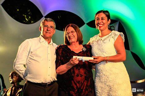 Elizabeth Dieguez com o Prefeito Carlaile Pedrosa e a presidente da FUNARBE Marcia Dutra (Foto: Elvis D'Paula/Prefeitura de Betim)