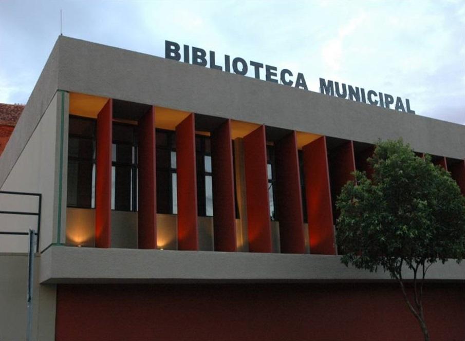Fachada da Biblioteca Pública Bernardo Guimarães (Foto: Acervo Fotográfico da Biblioteca 2013)