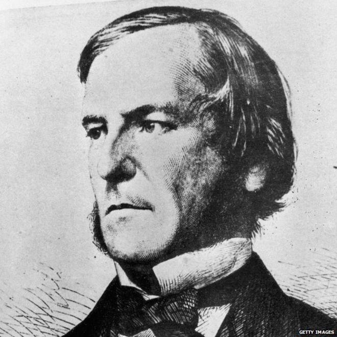"""A principal obra de George Boole (1815-1864) foi """"Uma Investigação das Leis do Pensamento"""" (1854) [Foto: Reprodução/BBC World Service]"""