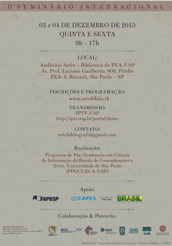 II Seminário Internacional A Arte da Bibliografia 2