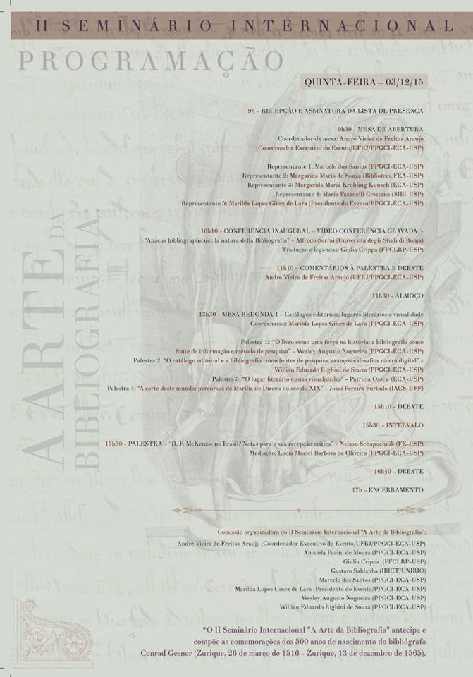 II Seminário Internacional A Arte da Bibliografia 3