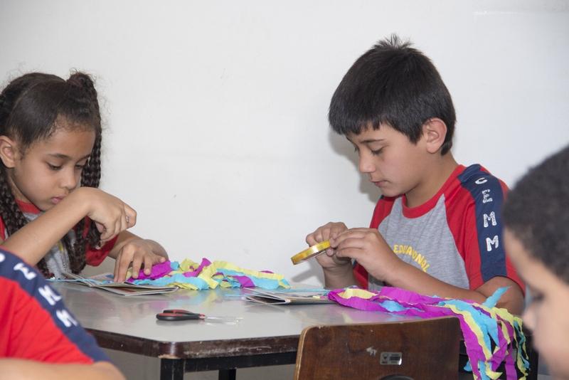 Atividades desenvolvem interação cultural entre as crianças (Foto: Divulgação ASCOM/PMOP)